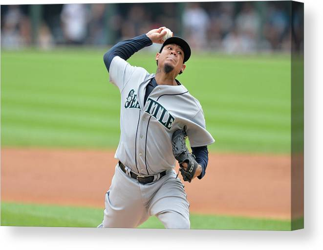 People Canvas Print featuring the photograph Felix Hernandez by Brian Kersey