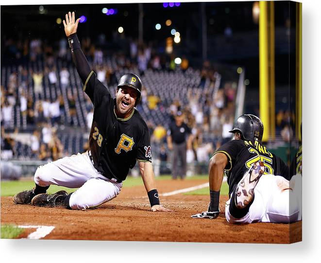 People Canvas Print featuring the photograph Francisco Cervelli by Jared Wickerham
