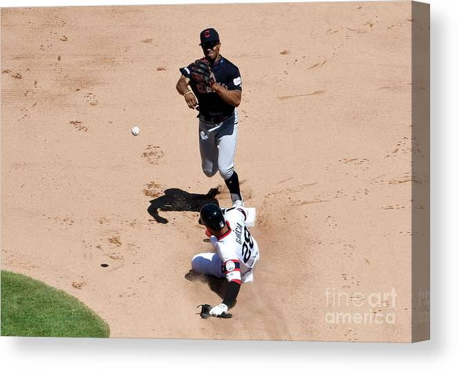 People Canvas Print featuring the photograph Francisco Lindor by David Banks
