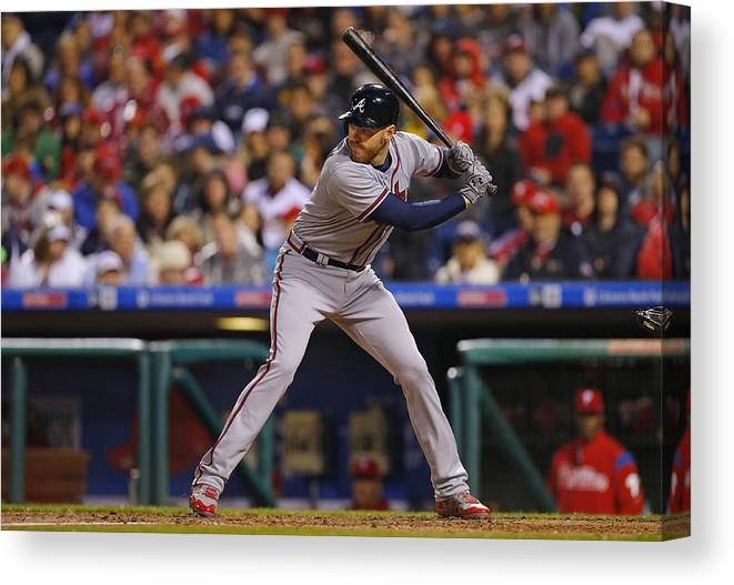 People Canvas Print featuring the photograph Freddie Freeman by Rich Schultz
