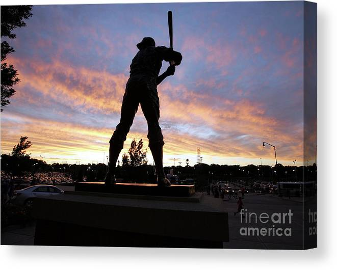 People Canvas Print featuring the photograph Hank Aaron by Icon Sports Wire