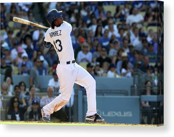 California Canvas Print featuring the photograph Hanley Ramirez by Stephen Dunn