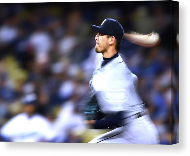 Hisashi Iwakuma Canvas Print featuring the photograph Hisashi Iwakuma by Harry How