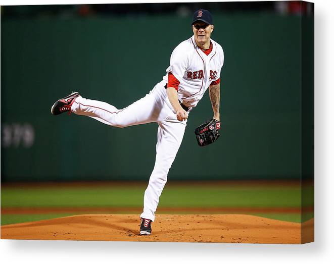 People Canvas Print featuring the photograph Jake Peavy by Jared Wickerham