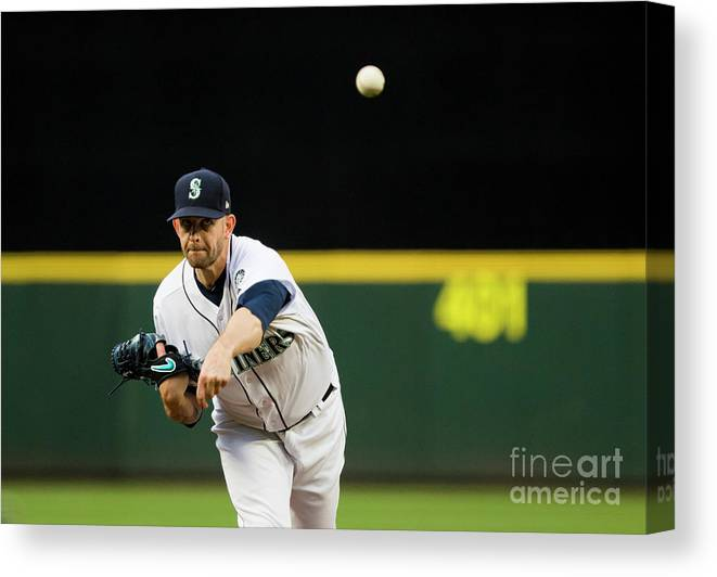 Second Inning Canvas Print featuring the photograph James Paxton by Lindsey Wasson
