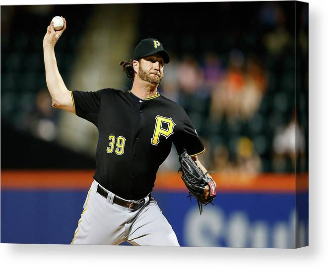 Ninth Inning Canvas Print featuring the photograph Jason Grilli by Jim Mcisaac