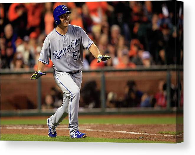 San Francisco Canvas Print featuring the photograph Jason Vargas by Jamie Squire