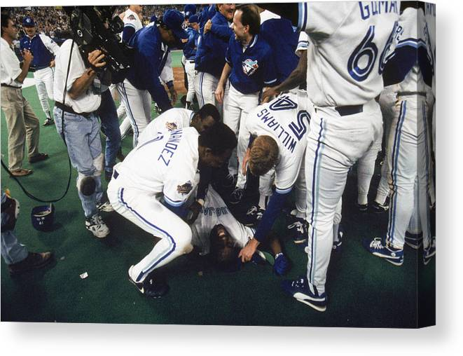 Toronto Canvas Print featuring the photograph Jay Rogers by Mlb Photos