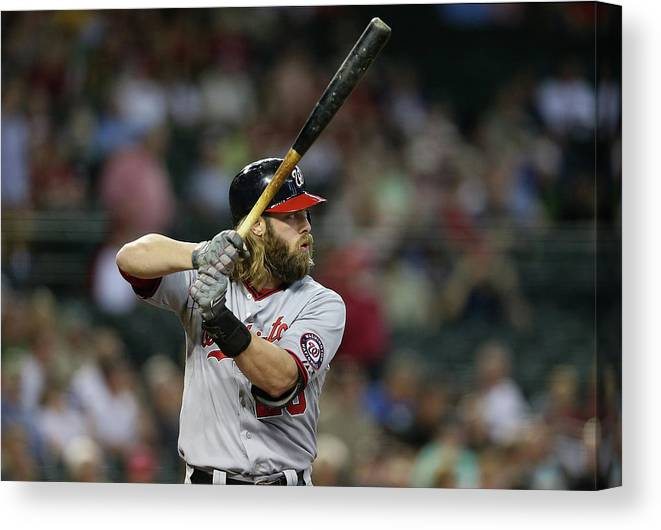 National League Baseball Canvas Print featuring the photograph Jayson Werth by Christian Petersen