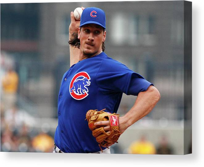 Second Inning Canvas Print featuring the photograph Jeff Samardzija by Justin K. Aller