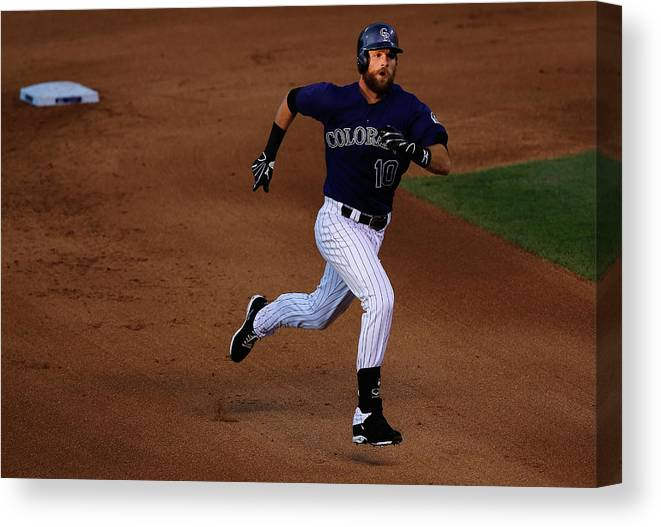 People Canvas Print featuring the photograph John Lackey by Doug Pensinger