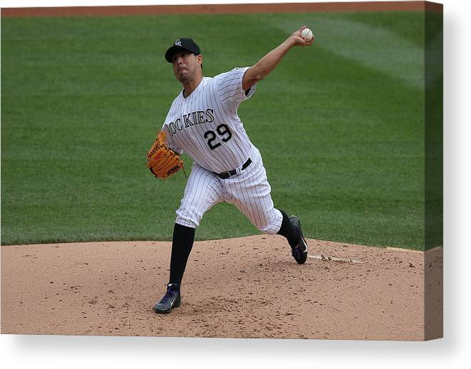 Jorge De La Rosa Canvas Print featuring the photograph Jorge De La Rosa by Doug Pensinger
