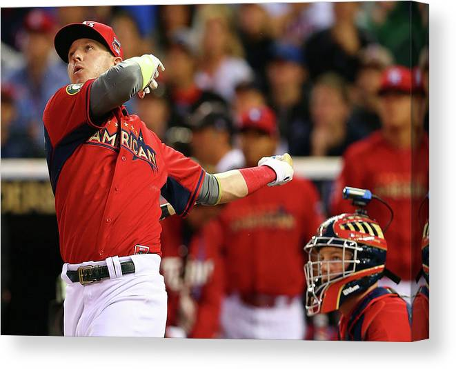 American League Baseball Canvas Print featuring the photograph Josh Fields by Elsa