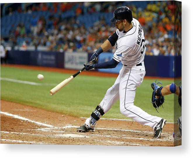 Ninth Inning Canvas Print featuring the photograph Kevin Kiermaier by Brian Blanco