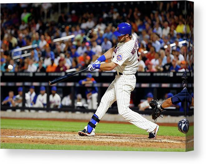 Scoring Canvas Print featuring the photograph Kirk Nieuwenhuis by Jim Mcisaac