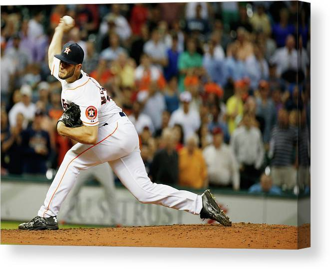 Ninth Inning Canvas Print featuring the photograph Lance Mccullers by Scott Halleran