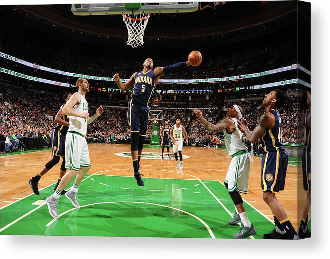 Nba Pro Basketball Canvas Print featuring the photograph Lavoy Allen by Brian Babineau