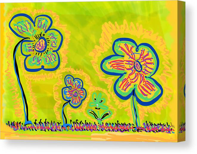 Spring Canvas Print featuring the drawing Looking for Spring by Pam Roth O'Mara