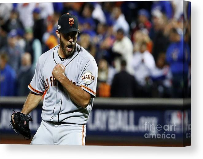 Playoffs Canvas Print featuring the photograph Madison Bumgarner by Al Bello