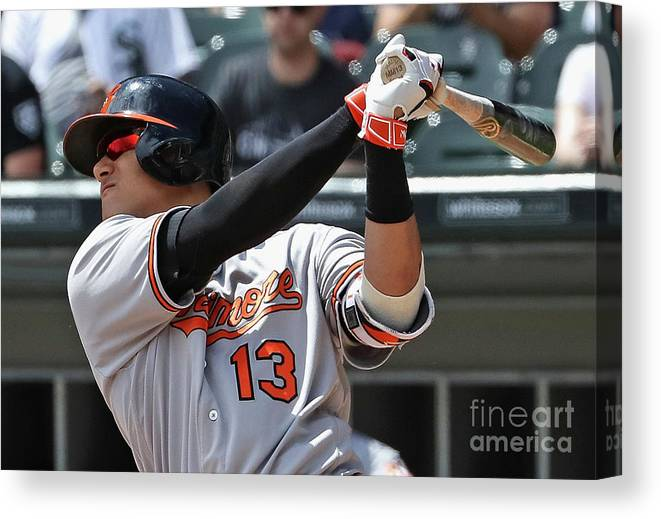 People Canvas Print featuring the photograph Manny Machado by Jonathan Daniel