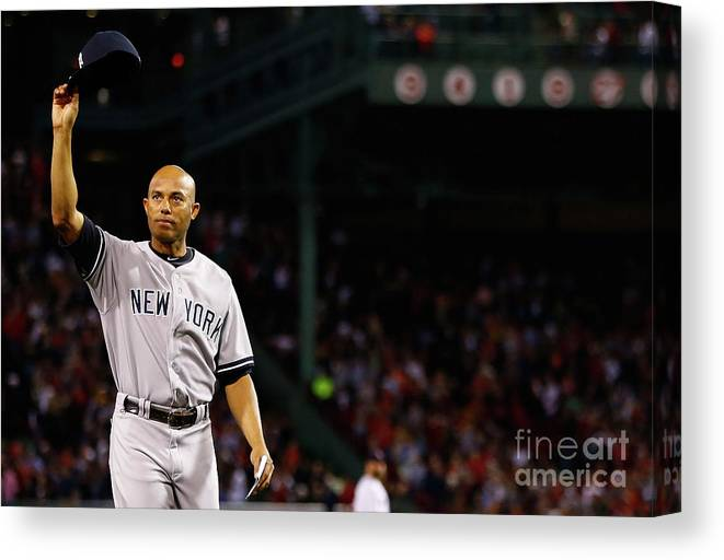 Crowd Canvas Print featuring the photograph Mariano Rivera by Jared Wickerham