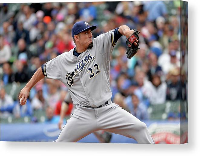 Baseball Pitcher Canvas Print featuring the photograph Matt Garza by Brian Kersey