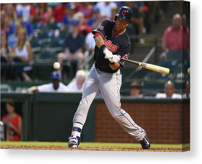 People Canvas Print featuring the photograph Michael Brantley by Ronald Martinez