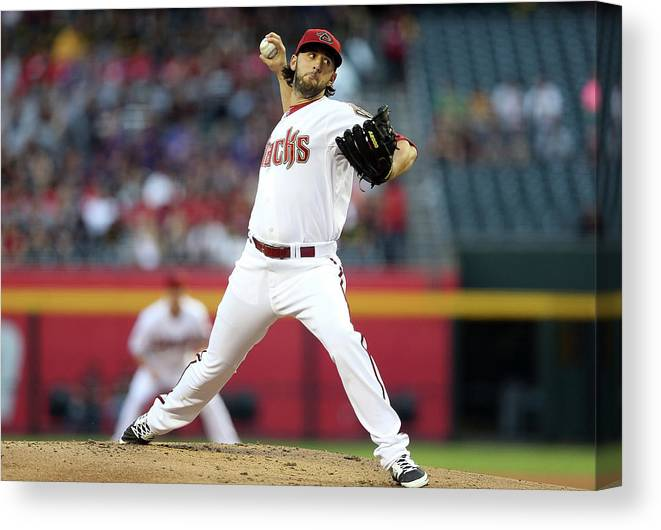 Mike Bolsinger Canvas Print featuring the photograph Mike Bolsinger by Christian Petersen