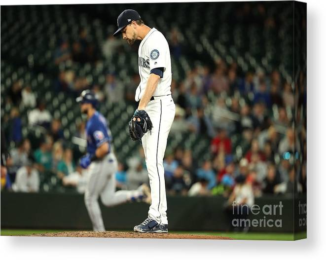People Canvas Print featuring the photograph Mike Leake and Joey Gallo by Abbie Parr