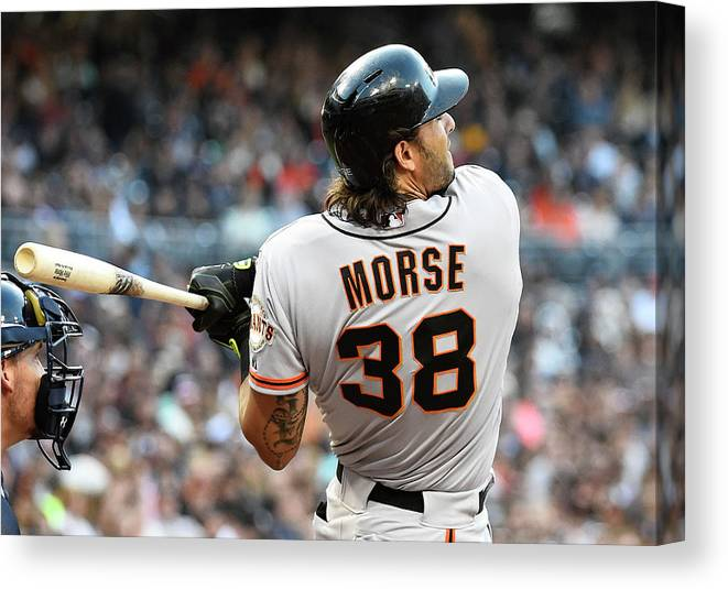 Mike Morse Canvas Print featuring the photograph Mike Morse by Denis Poroy