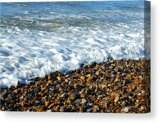 Water's Edge Canvas Print featuring the photograph Movement by Lyn Holly Coorg