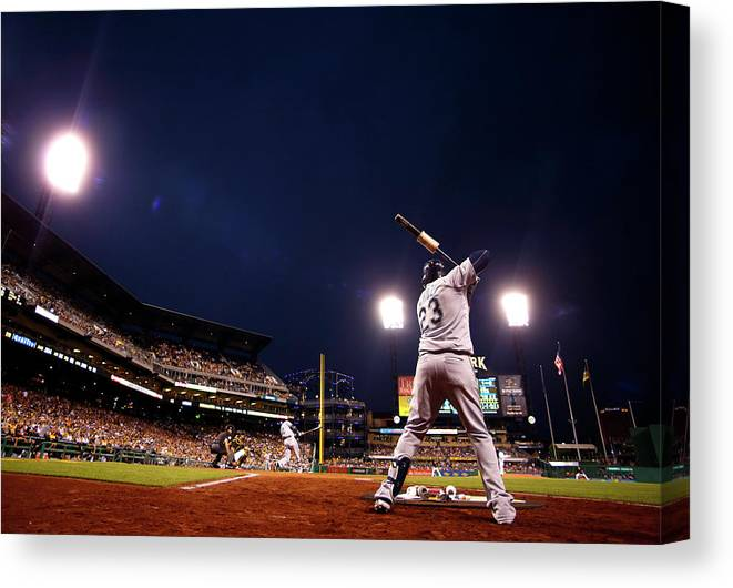 Expertise Canvas Print featuring the photograph Nelson Cruz by Justin K. Aller