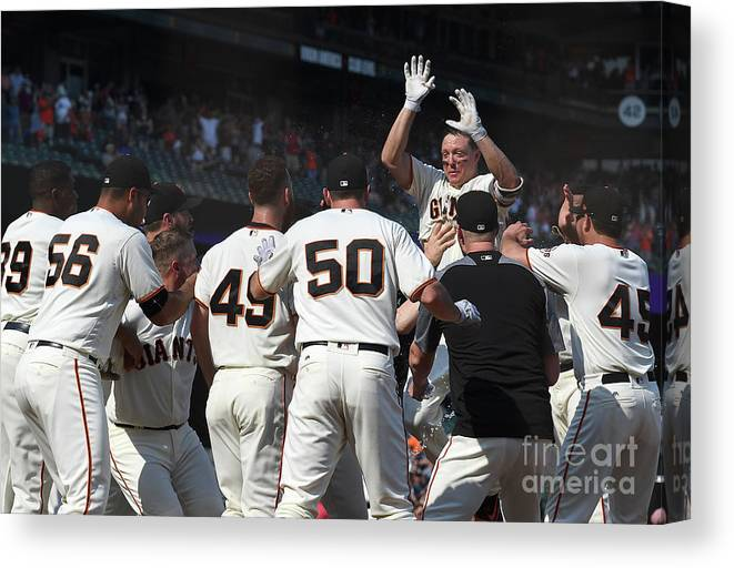 San Francisco Canvas Print featuring the photograph Nick Hundley by Thearon W. Henderson