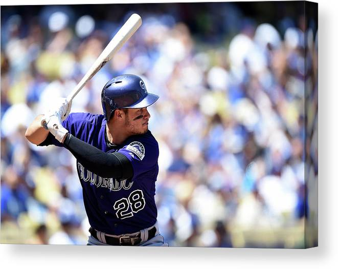 Second Inning Canvas Print featuring the photograph Nolan Arenado by Harry How