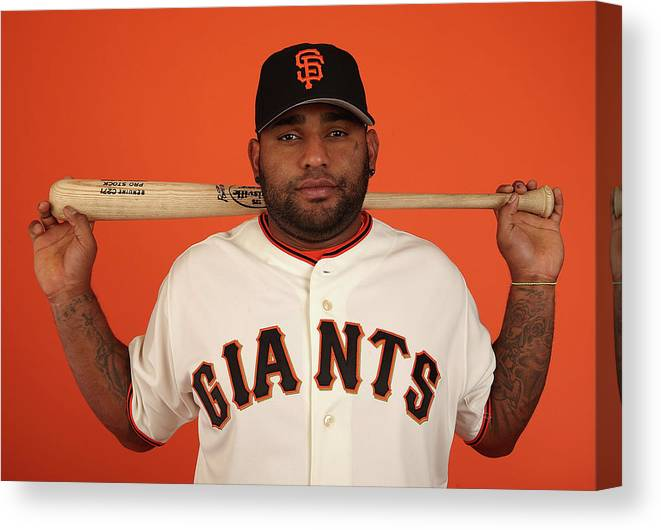 Media Day Canvas Print featuring the photograph Pablo Sandoval by Christian Petersen
