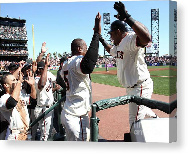 People Canvas Print featuring the photograph Pablo Sandoval by Jed Jacobsohn