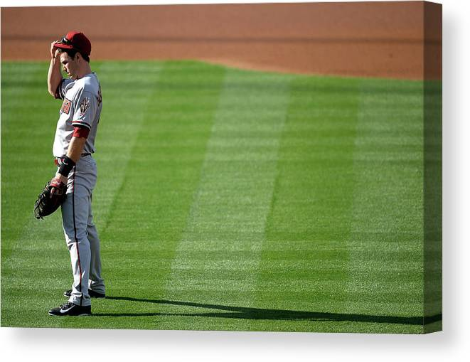 American League Baseball Canvas Print featuring the photograph Paul Goldschmidt by Harry How