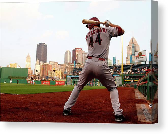 Professional Sport Canvas Print featuring the photograph Paul Goldschmidt by Justin K. Aller
