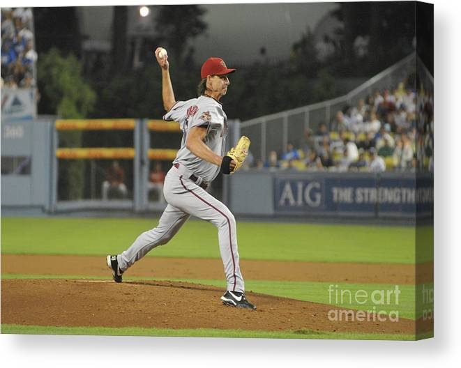 People Canvas Print featuring the photograph Randy Johnson by Icon Sports Wire