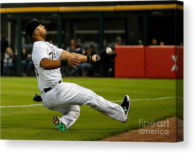 People Canvas Print featuring the photograph Robinson Chirinos by Jon Durr
