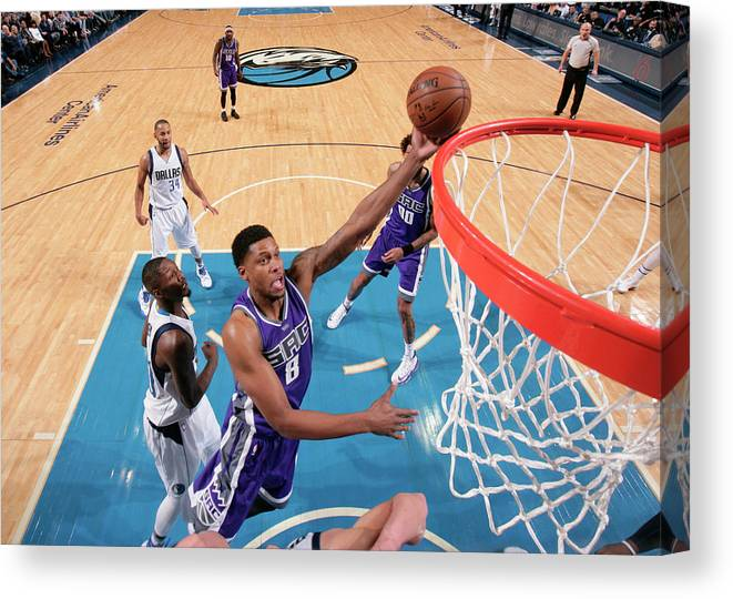 Nba Pro Basketball Canvas Print featuring the photograph Rudy Gay by Glenn James
