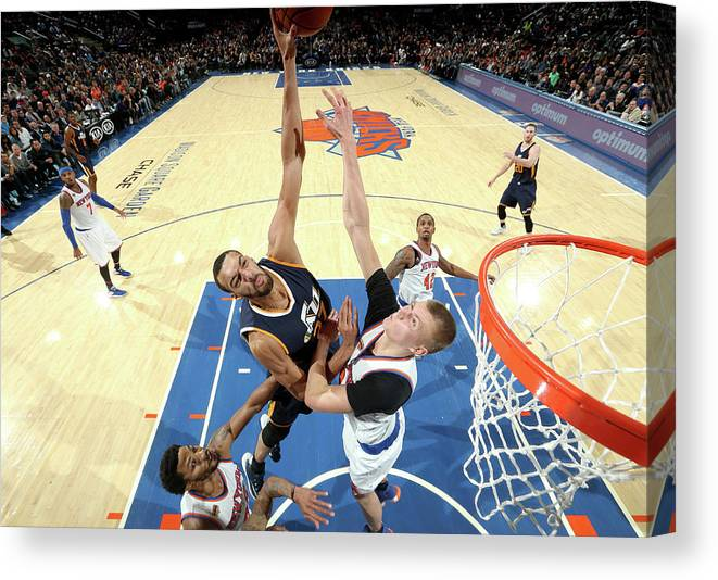 Nba Pro Basketball Canvas Print featuring the photograph Rudy Gobert by Nathaniel S. Butler
