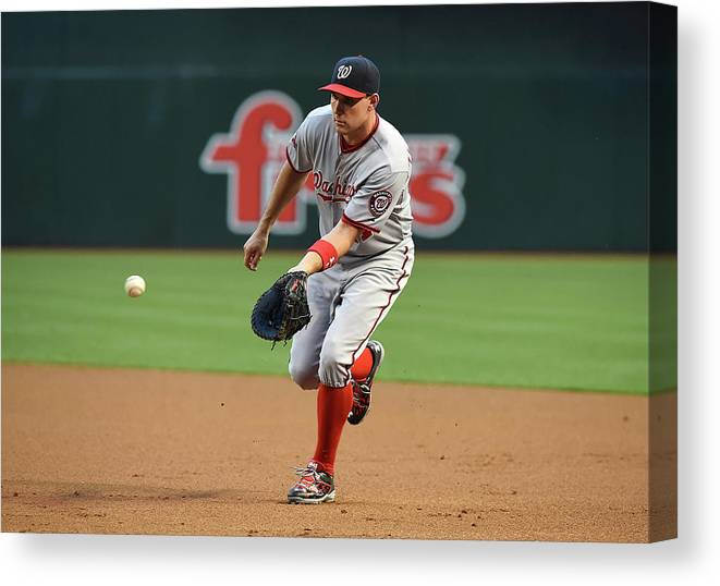 Second Inning Canvas Print featuring the photograph Ryan Zimmerman by Norm Hall