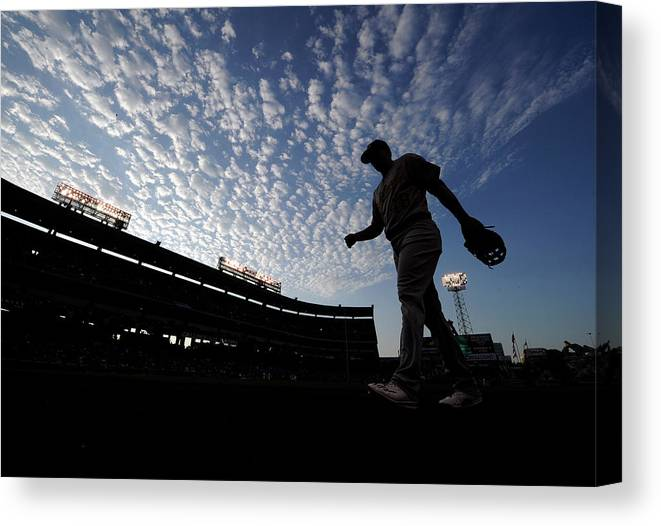 Ryon Healy Canvas Print featuring the photograph Ryon Healy by Kevork Djansezian