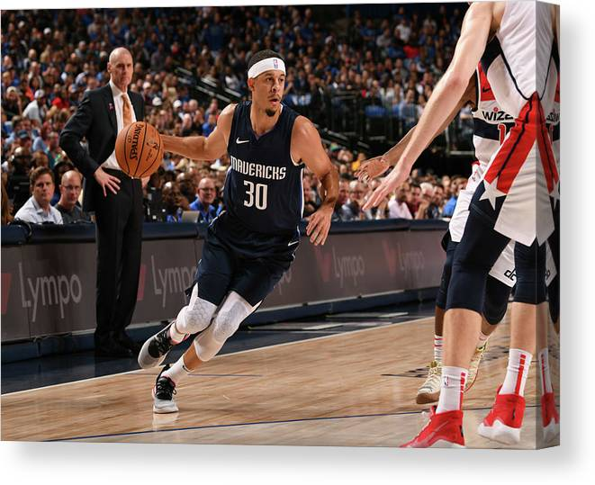 Nba Pro Basketball Canvas Print featuring the photograph Seth Curry by Glenn James