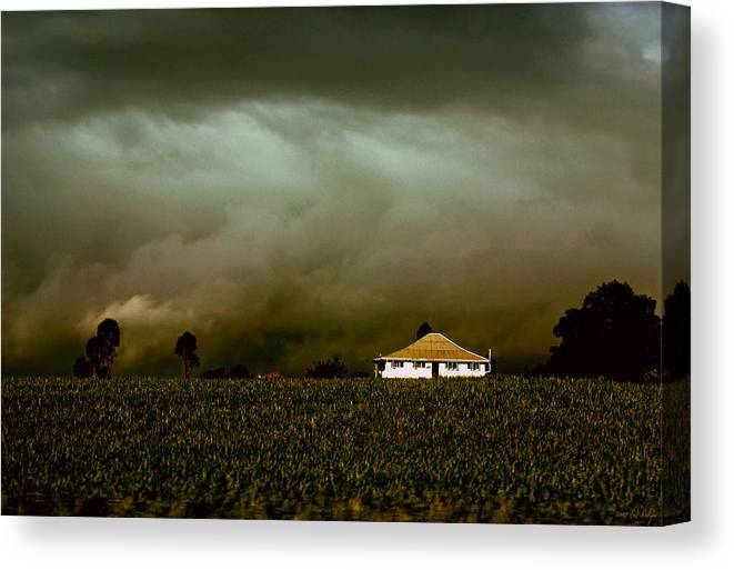 Landscape Canvas Print featuring the photograph Storm on the Rise by Holly Kempe