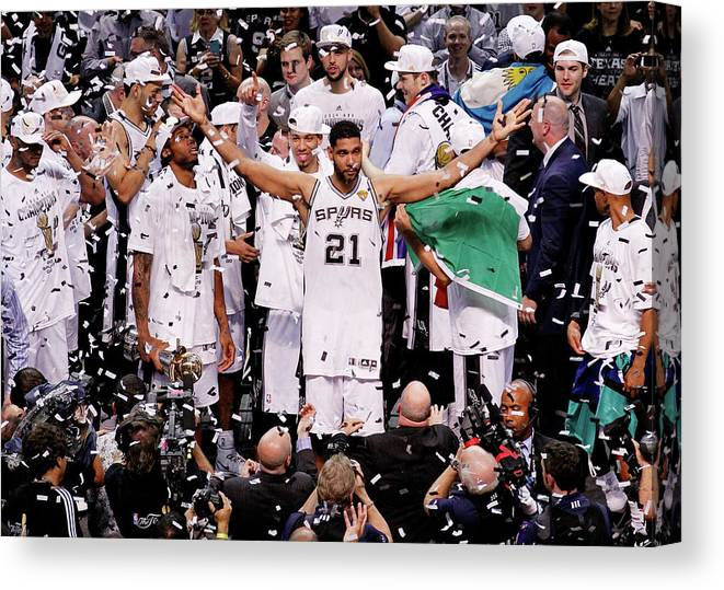 Playoffs Canvas Print featuring the photograph Tim Duncan by Chris Covatta
