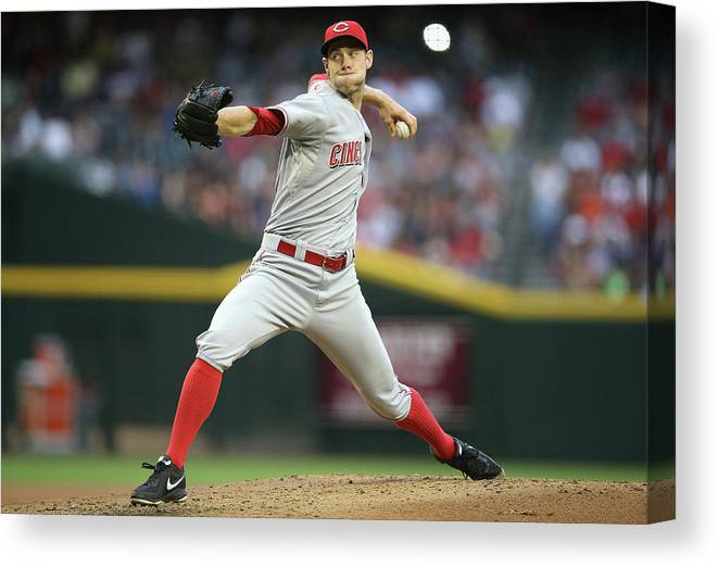 Baseball Pitcher Canvas Print featuring the photograph Tony Cingrani by Christian Petersen