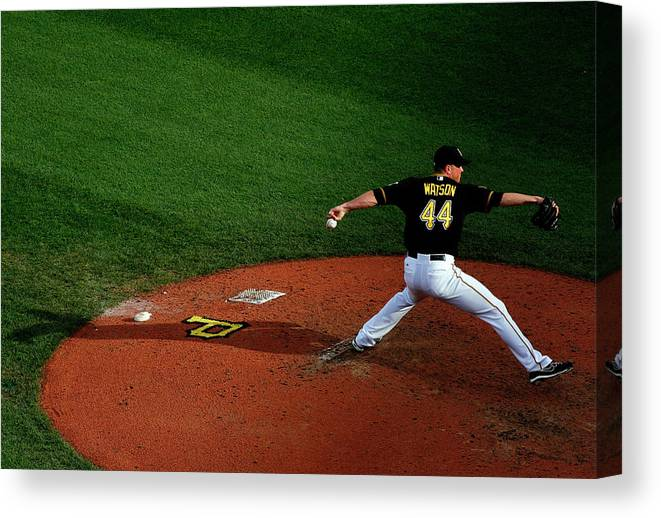 Professional Sport Canvas Print featuring the photograph Tony Watson by Justin K. Aller