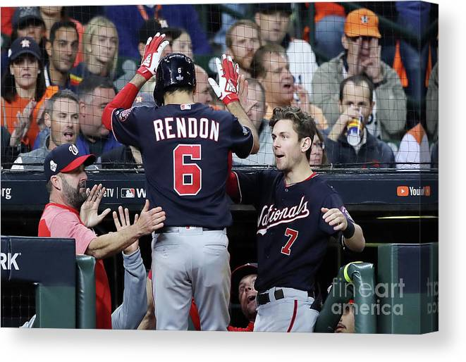 People Canvas Print featuring the photograph Trea Turner and Anthony Rendon by Elsa